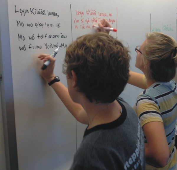 Kids learning Yoruba language