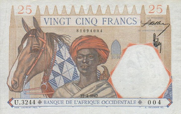 French West African money