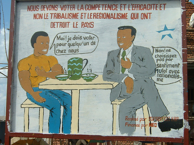 French poster from Congolese elections