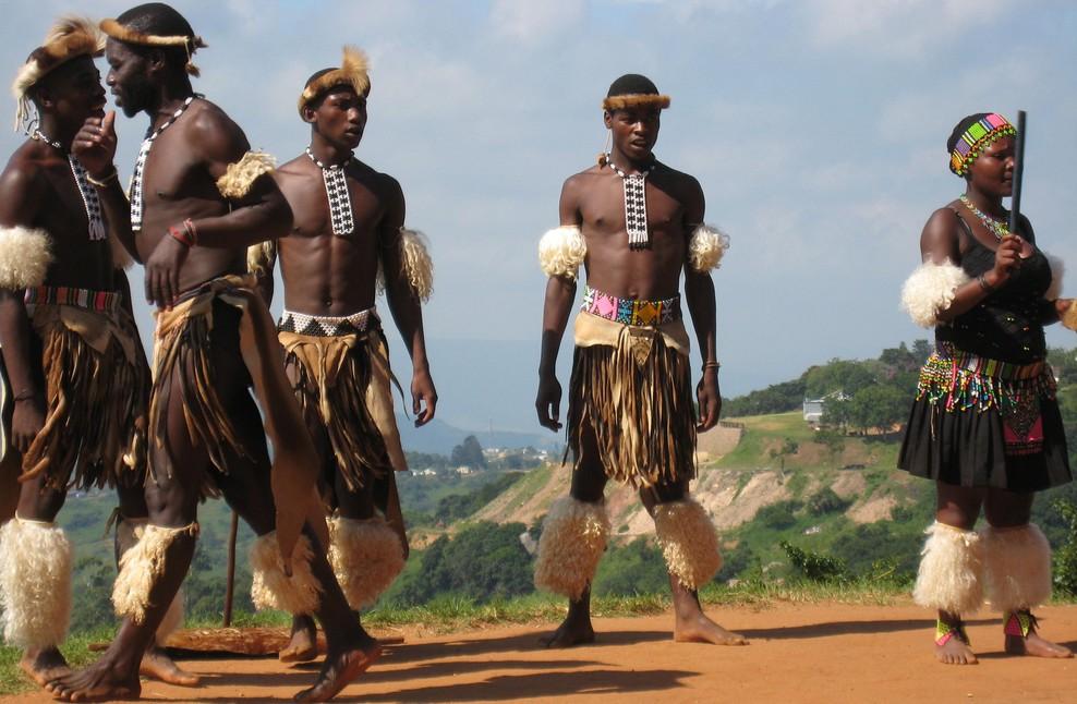 Zulu dancing group
