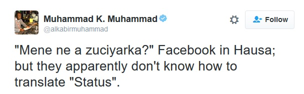 Hausa Facebook Translation
