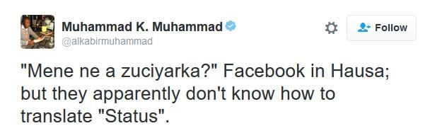 Hausa Facebook Translation